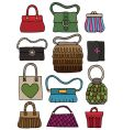 hand drawn bags vector image