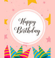 happy birthday greeting card style vector image