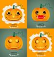 Happy Halloween background with Halloween pumpkin vector image