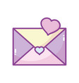 happy valentines day envelope message love heart vector image vector image