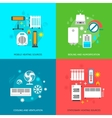 Heatingand conditioning icons set vector image vector image