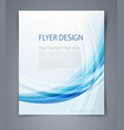 layout business flyer magazine cover or design vector image vector image
