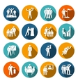 Leadership icons flat vector image vector image