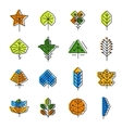 Leaf icon set in line style vector image vector image