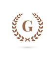 Letter G laurel wreath logo icon design template vector image vector image
