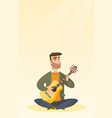 man playing the acoustic guitar vector image