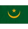 mauritania paper flag vector image vector image