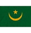 Mauritania paper flag vector image