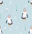 new year christmas winter season seamless pattern vector image