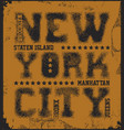 new york city typography graphics vector image vector image