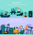 offshore petroleum production banners vector image vector image