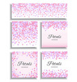 pink flying petals background vector image
