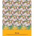 Poster crowd unemployment business people top vector image vector image