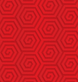 Red diagonal hexagonal spirals vector image