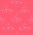 Seamless pattern of Flamingo vector image