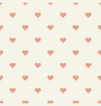 seamless pattern retro heart shape vector image vector image