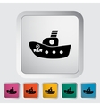 Ship toy flat icon vector image vector image