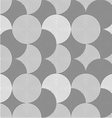Slim gray striped overlapped circles vector image vector image