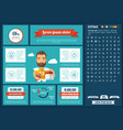 sports flat design infographic template vector image