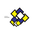 square-space-yellow-blue vector image