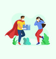 super fast courier delivery boy vector image vector image