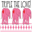 Triple The Love vector image vector image
