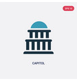 two color capitol icon from united states concept vector image vector image