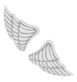 wings icon monochrome vector image vector image