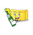 with beer butter mascot cartoon style vector image vector image