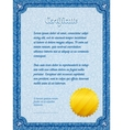 frame certificate template vector image