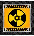 Sign of radioactivity vector image
