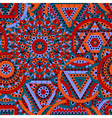 Seamless pattern with seven chakras vector image