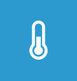 thermometer icon white on the blue background vector image