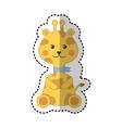 cute giraffe animal icon vector image