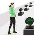 walk on street vector image
