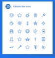 25 star icons vector image vector image