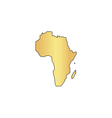 Africa computer symbol vector image