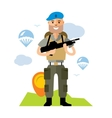 Airborne troops Flat style colorful vector image vector image