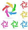 arrow color design elements vector image
