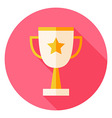 Award Cup with Star Circle Icon vector image vector image