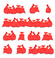 big set of bags santa claus of vector image