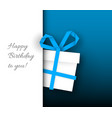 birthday card template vector image vector image