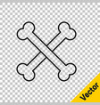 black line crossed human bones icon isolated on vector image vector image