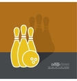 Bowling abstract background vector image