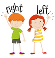 Boy on the right girl on the left vector image