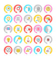 brainstorming concept colorful linear icons vector image