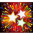 Brightly explosion paint background with stars vector image vector image