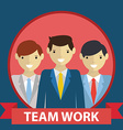 Business team team work concept in flat modern vector image vector image