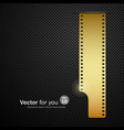 Camera film roll gold background vector image vector image