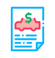 car buy document icon outline vector image vector image